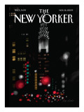 Night Lights - The New Yorker Cover, November 16, 2009 Premium Giclee Print by Jorge Colombo