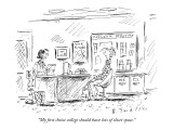 """My first choice college should have lots of closet space."" - New Yorker Cartoon Premium Giclee Print by Barbara Smaller"