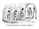 """""""It will take longer than we thought to go digital."""" - New Yorker Cartoon Premium Giclee Print by Tom Cheney"""