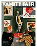 Vanity Fair Cover - March 1930 Premium Giclee Print by Constantin Alajalov
