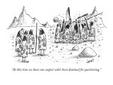 """At this time we have one suspect who's been detained for questioning."" - New Yorker Cartoon Premium Giclee Print by Tom Cheney"