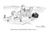 """Just because it doesn't feel like summer to you . . ."" - New Yorker Cartoon Premium Giclee Print by Victoria Roberts"