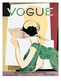 Vogue Cover - May 1928 - Smart Fashion Regular Giclee Print by Pierre Mourgue