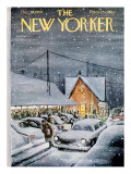 The New Yorker Cover - December 19, 1959 Premium Giclee Print by Charles Saxon