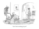 """Can I nuke something for you?"" - New Yorker Cartoon Premium Giclee Print by Mick Stevens"