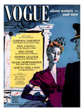 Vogue Cover - November 1942 Regular Giclee Print by René Bouét-Willaumez