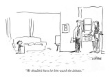 """We shouldn't have let him watch the debates."" - New Yorker Cartoon Premium Giclee Print by Robert Weber"