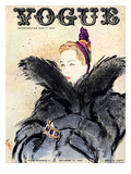 "Vogue Cover - September 1937 Regular Giclee Print by Carl ""Eric"" Erickson"