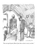 """You can stop the pain, Marcel. Just show us how to crust a sea bass."" - New Yorker Cartoon Premium Giclee Print by Michael Crawford"