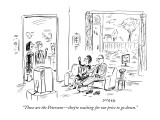 """Those are the Petersons—they're waiting for our price to go down."" - New Yorker Cartoon Premium Giclee Print by David Sipress"