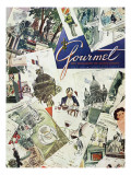 Gourmet Cover - July 1951 Regular Giclee Print by Henry Stahlhut