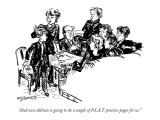 """And now Adrian is going to do a couple of P.S.A.T. practice pages for us."" - New Yorker Cartoon Premium Giclee Print by William Hamilton"