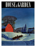 House & Garden Cover - December 1937 Regular Giclee Print by Dale Nichols
