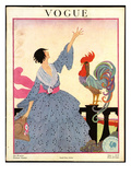 Vogue Cover - July 1918 Premium Giclee Print by Helen Dryden