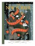 Holiday Cheer - The New Yorker Cover, December 7, 2009 Regular Giclee Print by Jan Van Der Veken