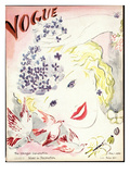 Vogue Cover - May 1935 Premium Giclee Print by Marcel Vertes