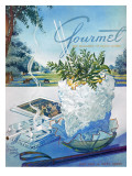 Gourmet Cover - July 1952 Regular Giclee Print by Henry Stahlhut