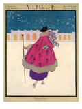 Vogue Cover - December 1916 Regular Giclee Print by Helen Dryden