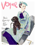 Vogue Cover - March 1935 Regular Giclee Print by Pierre Mourgue