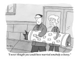 """""""I never thought you would have married somebody so heavy."""" - New Yorker Cartoon Premium Giclee Print by Peter C. Vey"""