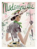 Mademoiselle Cover - July 1936 Premium Giclee Print by Helen Jameson Hall