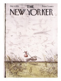 The New Yorker Cover - October 4, 1976 Regular Giclee Print by Ronald Searle