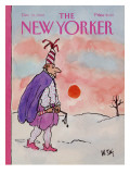 The New Yorker Cover - December 31, 1984 Premium Giclee Print by William Steig