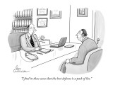 """I find in these cases that the best defense is a pack of lies."" - New Yorker Cartoon Premium Giclee Print by Leo Cullum"