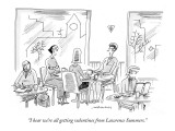 """I hear we're all getting valentines from Lawrence Summers."" - New Yorker Cartoon Premium Giclee Print by Mick Stevens"