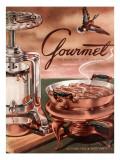 Gourmet Cover - October 1952 Regular Giclee Print by Henry Stahlhut