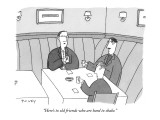 """Here's to old friends who are hard to shake."" - New Yorker Cartoon Premium Giclee Print by Peter C. Vey"
