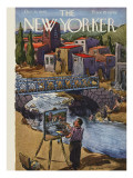 The New Yorker Cover - October 20, 1945 Premium Giclee Print by Alan Dunn