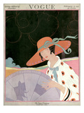 Vogue Cover - February 1917 Regular Giclee Print by Helen Dryden