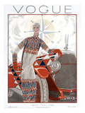 Vogue Cover - January 1925 Regular Giclee Print by Georges Lepape