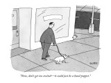 """Now, don't get too excited—it could just be a hand puppet."" - New Yorker Cartoon Premium Giclee Print by Peter C. Vey"