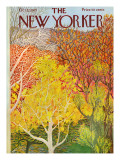 The New Yorker Cover - October 22, 1973 Premium Giclee Print by Ilonka Karasz