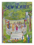 The New Yorker Cover - July 7, 1980 Regular Giclee Print by George Booth