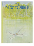 The New Yorker Cover - September 7, 1987 Premium Giclee Print by Jean-Jacques Sempé