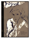"Vogue Cover - November 1934 Regular Giclee Print by Carl ""Eric"" Erickson"