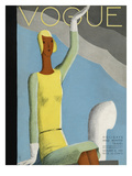 Vogue Cover - December 1929 Regular Giclee Print by Eduardo Garcia Benito