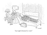 """Last night I dreamed in e-mail."" - New Yorker Cartoon Premium Giclee Print by Robert Mankoff"