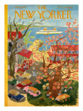 The New Yorker Cover - January 8, 1955 Regular Giclee Print by Ilonka Karasz