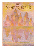 The New Yorker Cover - August 18, 1975 Premium Giclee Print by Eugène Mihaesco