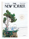 The New Yorker Cover - August 14, 1965 Premium Giclee Print by Saul Steinberg