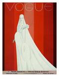 Vogue Cover - February 1928 Regular Giclee Print by Eduardo Garcia Benito
