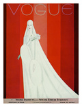 Vogue Cover - February 1928 Premium Giclee Print by Eduardo Garcia Benito