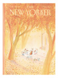 The New Yorker Cover - October 20, 1980 Premium Giclee Print by Jean-Jacques Semp&#233;