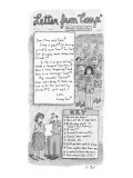 """Letter from Camp*"" - New Yorker Cartoon Premium Giclee Print by Roz Chast"