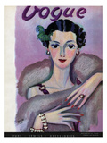 Vogue Cover - October 1934 Regular Giclee Print by Eduardo Garcia Benito