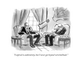 """I aspired to authenticity, but I never got beyond verisimilitude."" - New Yorker Cartoon Premium Giclee Print by Lee Lorenz"